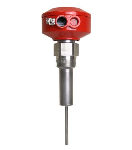 détecteur de niveau à tige vibrante / pour solides / pour produits en vrac / compact