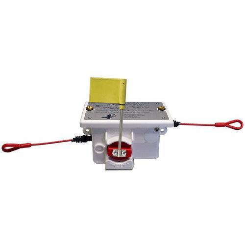interrupteur à traction de câble / à commande par câble / d'arrêt d'urgence / unipolaire