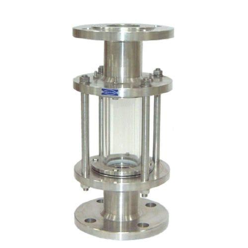 hublot d'observation pour applications industrielles / en acier inoxydable / à bride