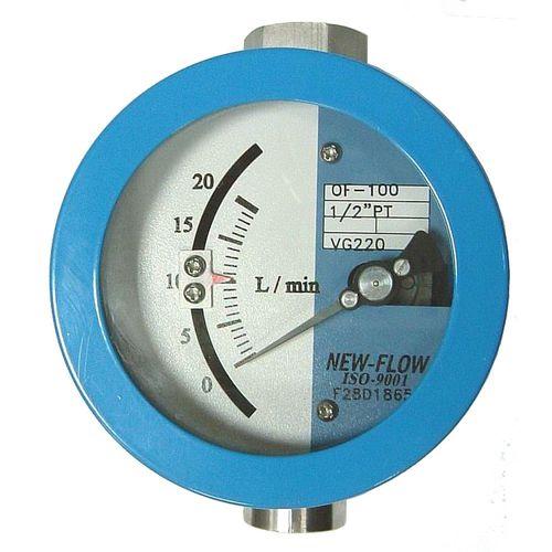 contrôleur de débit à piston / pour eau / pour huile / pour liquides