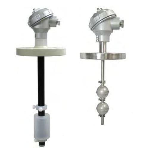 détecteur de niveau à flotteur magnétique / de liquide / en acier inoxydable / en PVC