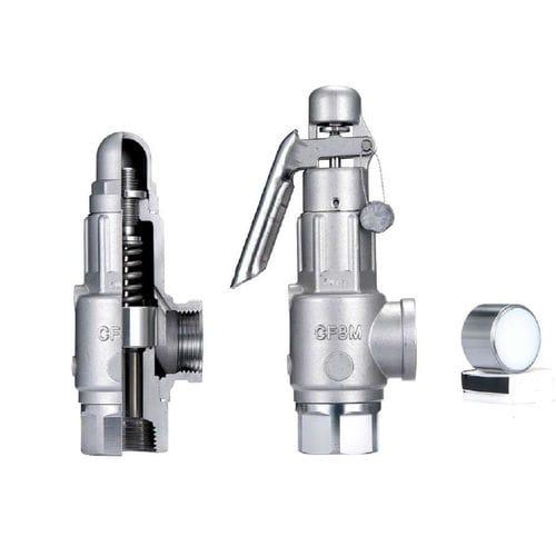 soupape de sécurité pour eau / à air / pour vapeur / directionnelle