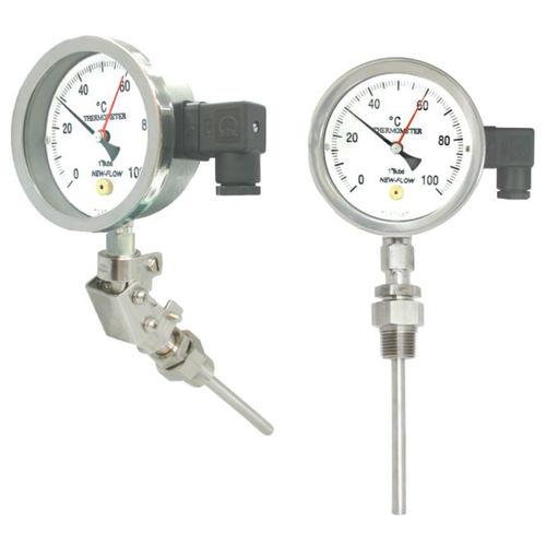 thermomètre à dilatation de liquide / analogique / à insertion / en acier inoxydable