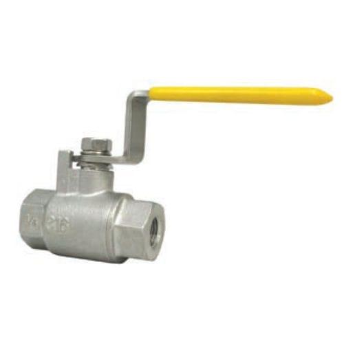vanne à boisseau sphérique / à levier / de contrôle de débit / pour produits chimiques