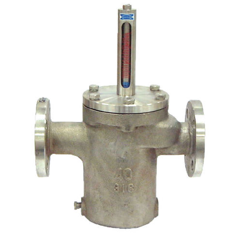 débitmètre à flotteur / pour liquides / à tube métallique / en acier inoxydable