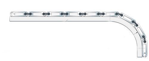tapis articulé en aluminium / à lamelles / pour machine