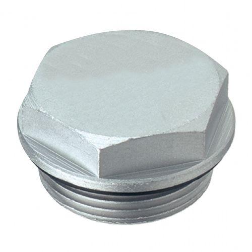 bouchon hexagonal / non fileté / en NBR / en aluminium