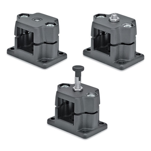 connecteur de tube carré / en croix / en aluminium / porte tube