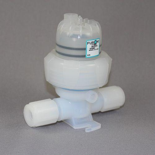 vanne à membrane / à commande pneumatique / pour produits chimiques / en PTFE