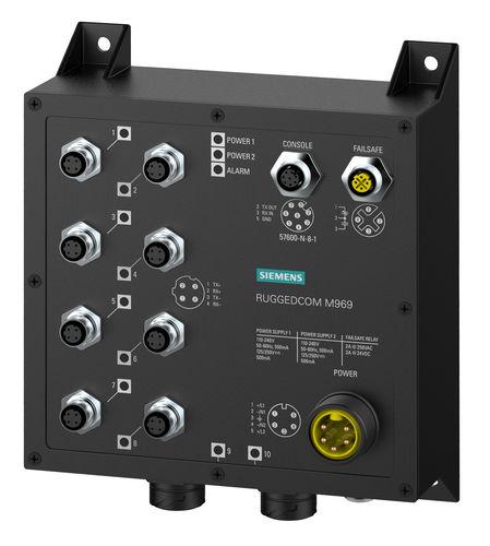 commutateur Ethernet administrable / 10 ports / de niveau 2 / de fibre optique