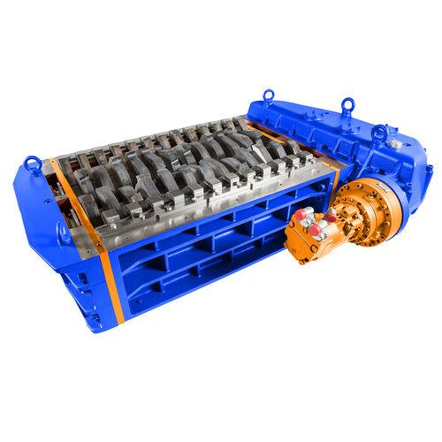 déchiqueteur plastique / pour le bois / de pneus / pour carton
