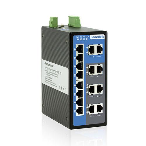 commutateur Ethernet 16 ports / administrable / à montage sur rail DIN / redondant