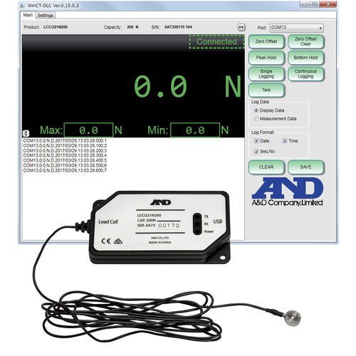 capteur de force USB / en compression / type bouton