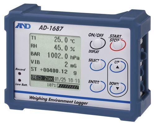 enregistreur de données de température / d'humidité relative / de pression barométrique / de vibration