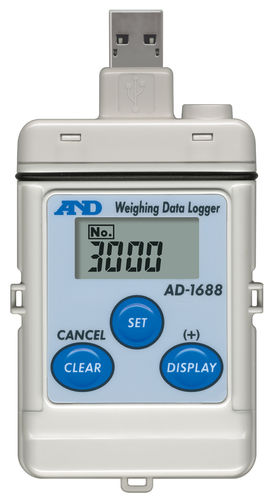 enregistreur de données de poids / USB / RS-232C / avec afficheur LCD