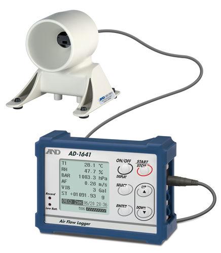 enregistreur de données de température / d'humidité relative / de pression barométrique / de débit d'air