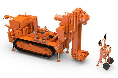 foreuse de longs trous / sur chenilles / rotative / pour mine souterraine