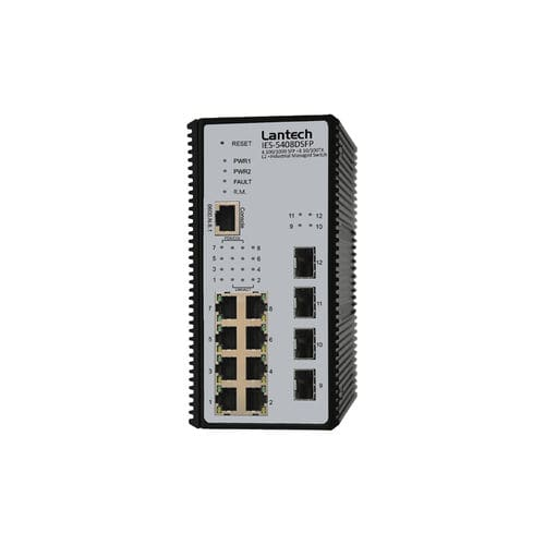 commutateur Ethernet administrable / 12 ports / sur rail DIN / PTP