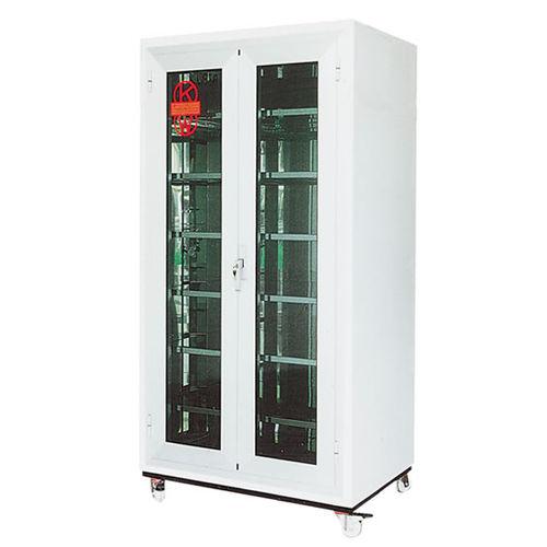 armoire de stockage / au sol / double porte / à étagères