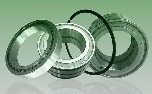 roulement à rouleaux cylindriques / à deux rangées / en acier / avec cage