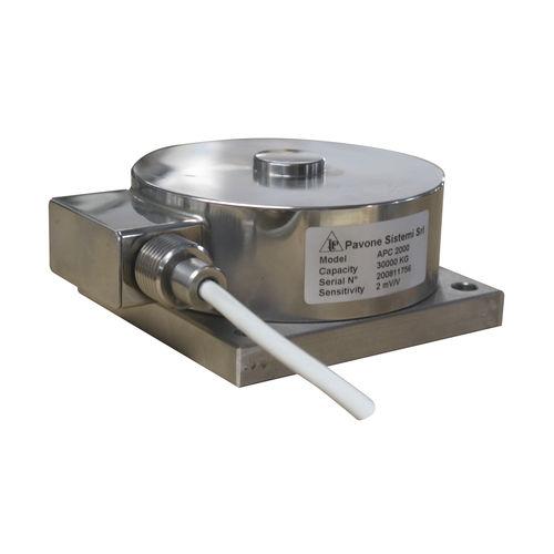 capteur de force en compression / type bouton / miniature / en acier inoxydable