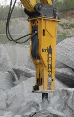 marteau piqueur hydraulique / pour pelle hydraulique / vertical