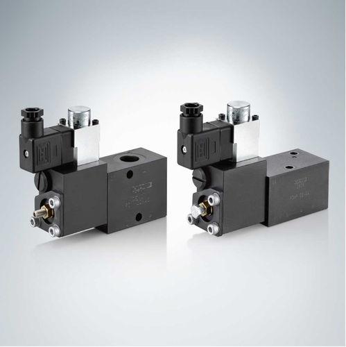 vanne à piston / à commande hydraulique / de réduction de pression / pour huile