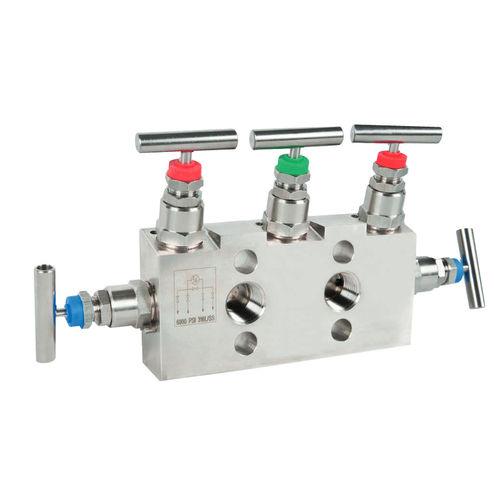 manifold 5 voies / en inox / pour gaz / d'arrêt