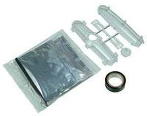 boîte de dérivation en plastique / avec résine époxy à couler / pour câble basse tension