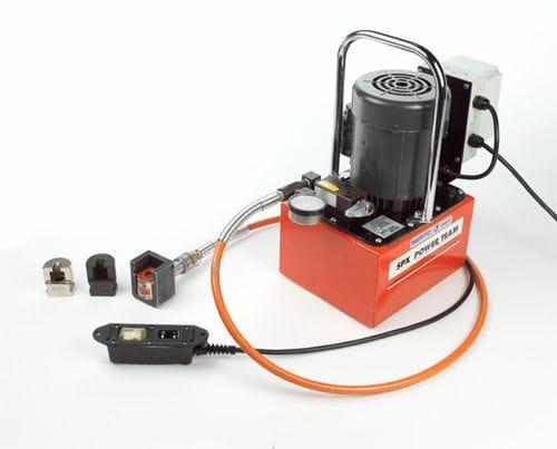 sertisseuse de tuyau flexible / semi-automatique / électrohydraulique