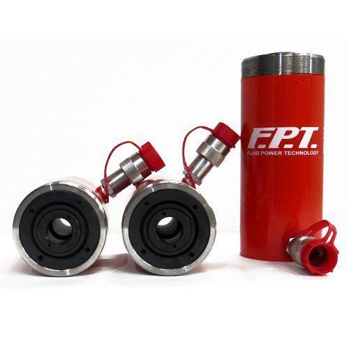 vérin à piston creux / hydraulique / simple effet avec ressort de rappel / haute pression
