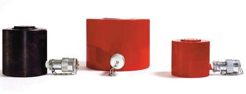 vérin hydraulique / simple effet à rappel par gravité / sur mesure / fort tonnage