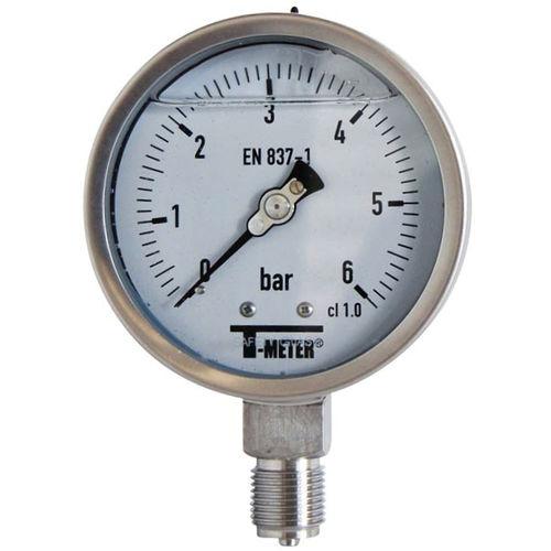 manomètre à cadran noyé / à tube de Bourdon / pour air / pour applications hydrauliques