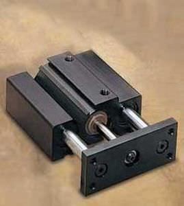 vérin pneumatique / à tige de piston guidée / double effet / de bloc