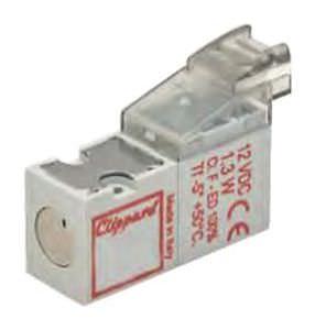 électrovanne 3 voies / pour gaz / miniature / en ligne