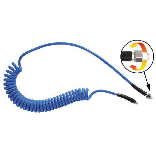 tuyau flexible pour air comprimé / pour transport pneumatique / en polyuréthane / spiralé