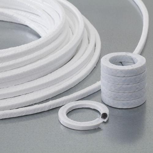 garniture tressée en PTFE / en carbone / pour vanne / pour l'industrie chimique