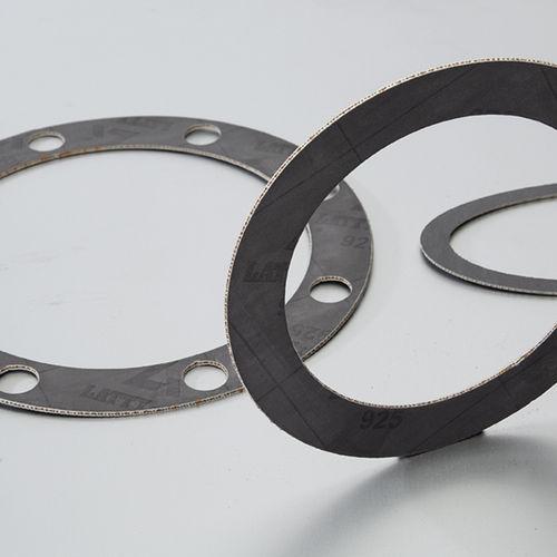 feuille de joint en graphite / en acier / en aramide / pour applications chimiques