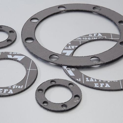 feuille de joint en graphite expansé / en inox / en aramide / pour applications chimiques