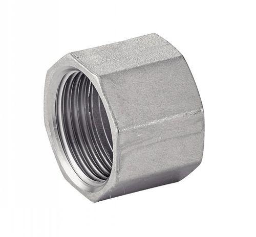 bouchon hexagonal / femelle / en acier inoxydable / moulé