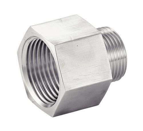 réduction femelle-mâle hydraulique / pour tuyaux / filetée / en acier inoxydable