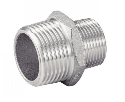 réduction mâle-mâle hydraulique / pour tuyaux / filetée / en acier inoxydable