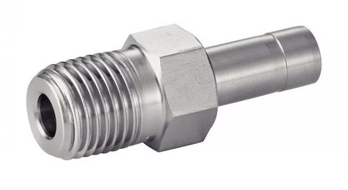 adaptateur hydraulique / de tuyau / fileté / en acier inoxydable