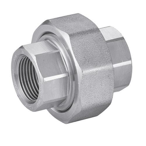 raccord taraudé / droit / hydraulique / en acier inoxydable