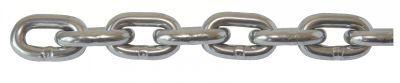 chaîne en acier inoxydable / ronde ordinaire / d'attache / à maillon court