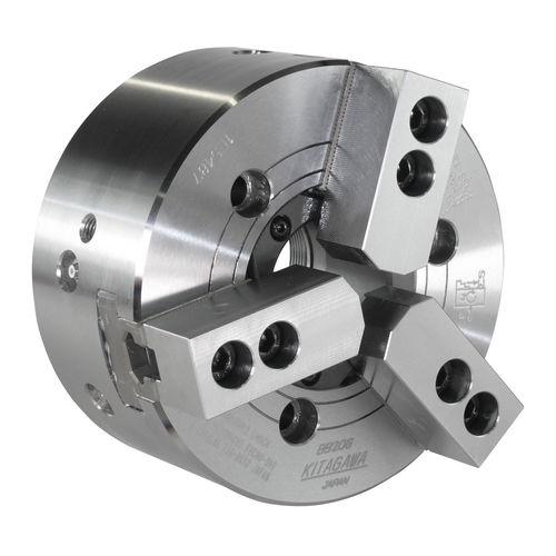 mandrin automatique / 3 mors / avec passage au centre / avec adaptateur