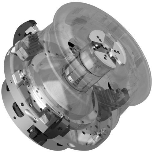 mandrin automatique / 3 mors / de roue / à pince