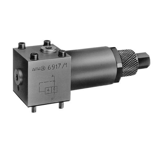 vanne à piston / à commande hydraulique / de réduction de pression / d'arrêt