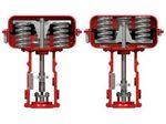 actionneur de vanne pneumatique / linéaire / à piston / à ressort de rappel