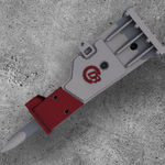 marteau perforateur hydraulique / pour chantier